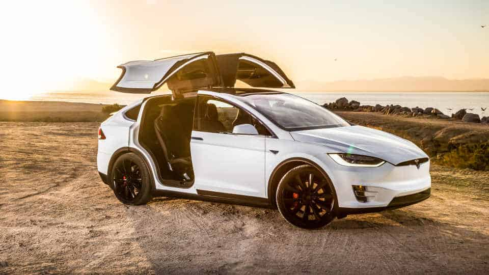 Tesla Model X On Beach