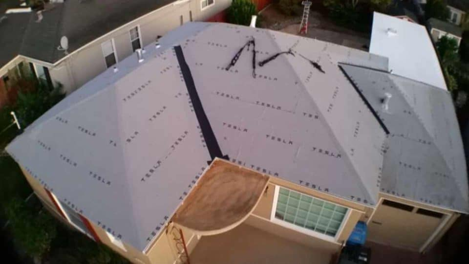 Tesla Solar Roof Install Day 1 - 7:30 AM